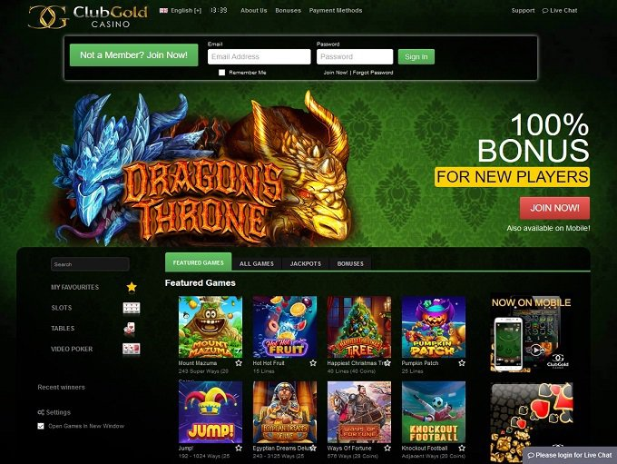 Club Gold Casino Promotion Code 2017